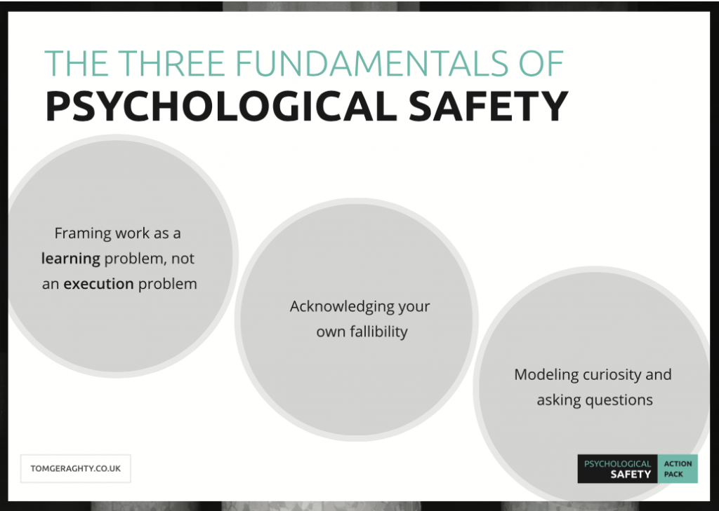 The Three Fundamentals of Psychological Safety
