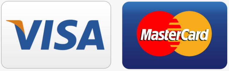 visa and mastercard accepted